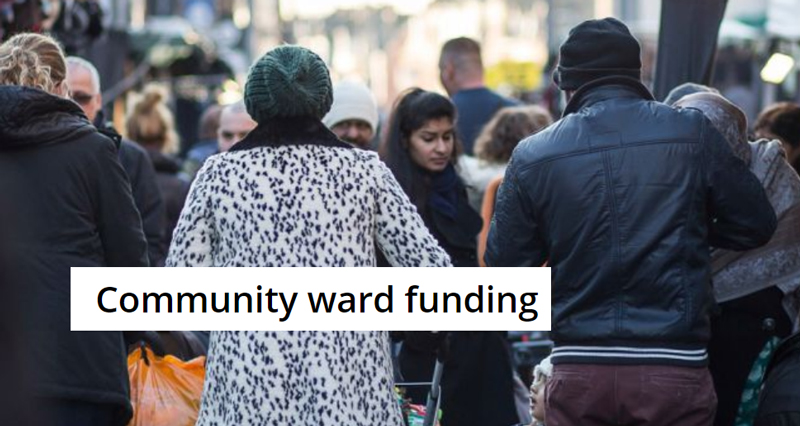 People in a street: screenshot from Council website