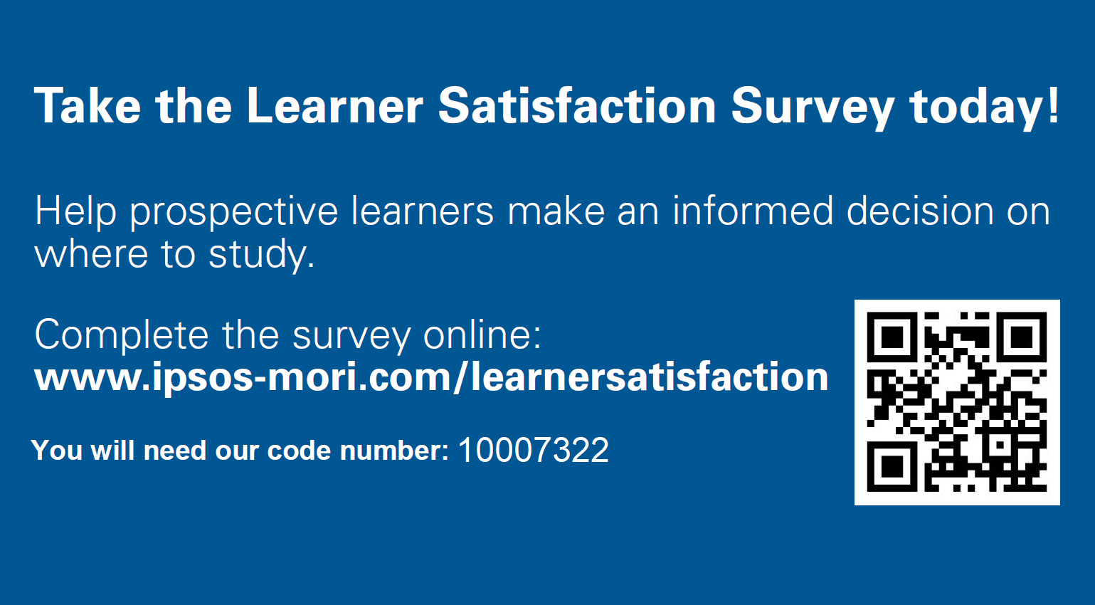 Learner survey 2018 link and graphic