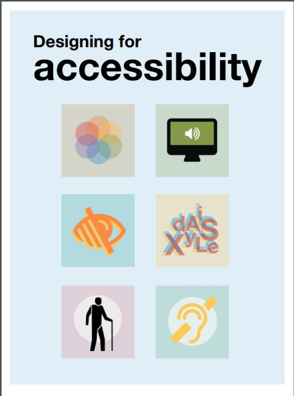 Screenshot of poster: Designing for accessibility